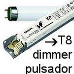 Balastos T8 dimmer pulsador