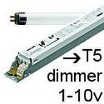 Balastos T5 dimmer 1-10v