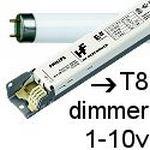 Balastos T8 dimmer 1-10v