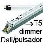 Balastos T5 dimmer Dali y pulsador