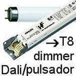 Balastos T8 dimmer Dali y pulsador