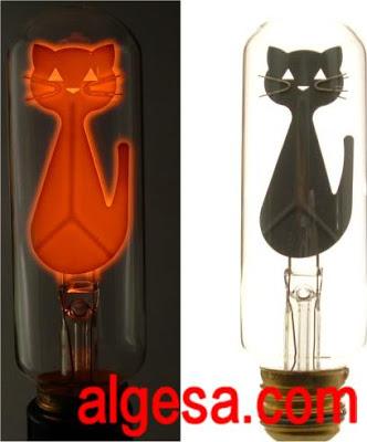 Bombillas de neon en forma de gato