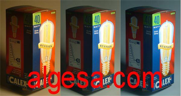 Comparacion de los colores iluminado con distintas fuentes de luz-Bombillasytubos.com