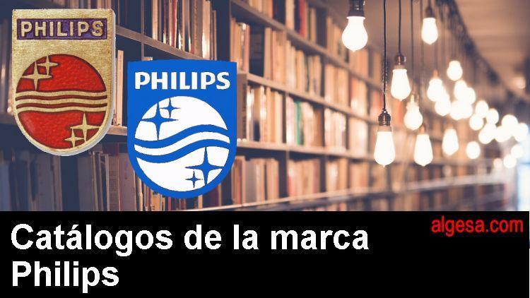 Catalogos de lamparas historicos de la marca Philips