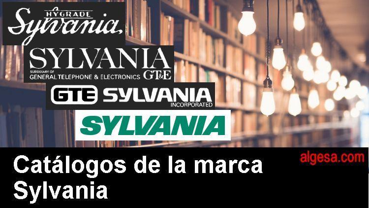 Catalogos históricos de lamparas de la marca Sylvania