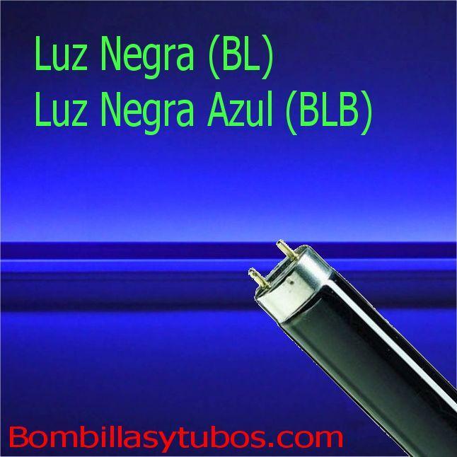 Luz Negra (black Light)  y Luz Negra Azul (blacl Light Blue)