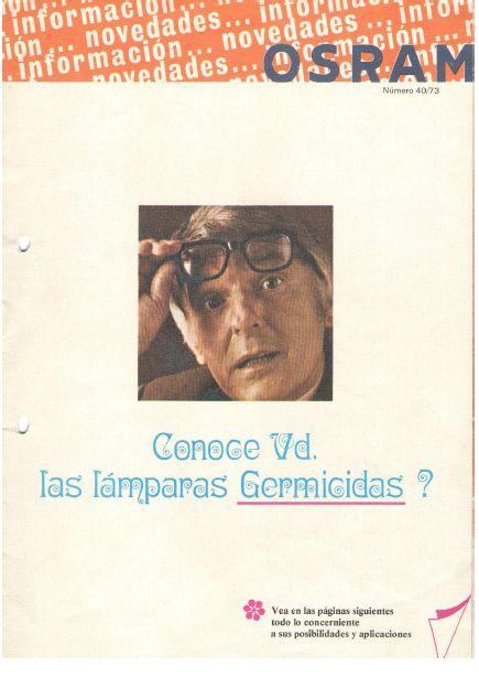 Folleto lamparas germicidas Osram 1972