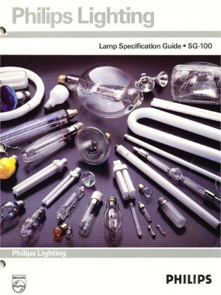 catalogo de lamparas de Philips Usa 1988