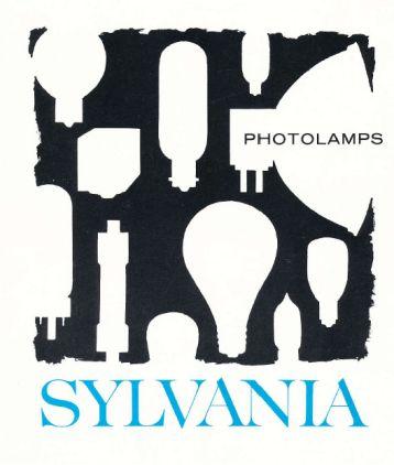 catalogo de lamparas de fotografia Sylvania Usa 1969