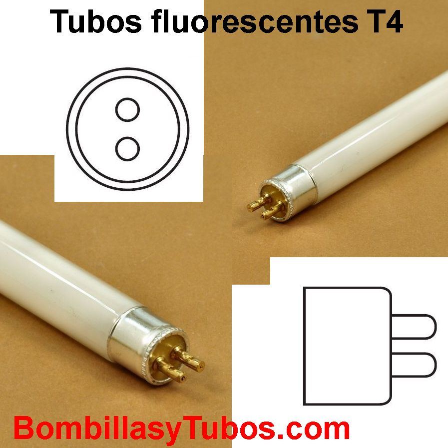 Medidas de los tubos fluorescentes T4