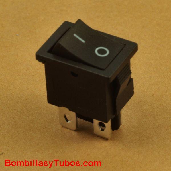 Interruptor empotrable rectangular 2 polos