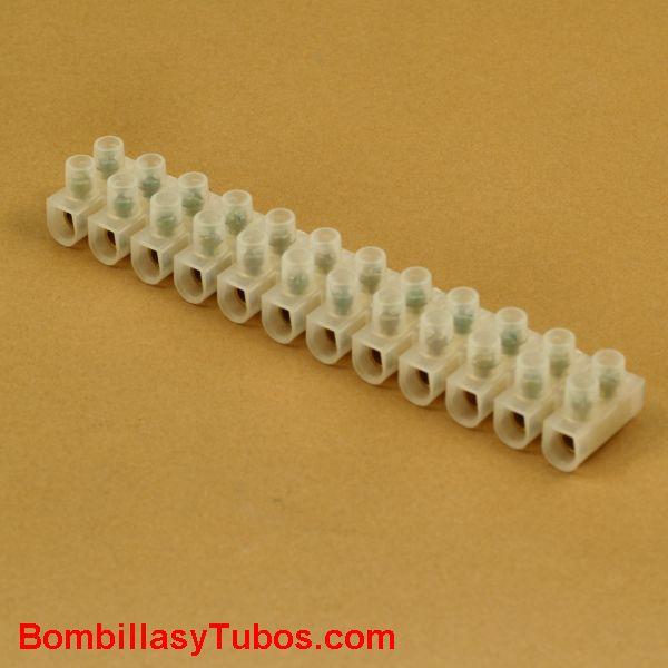 Regleta de conexión 10mm2 tira de 12 unidades