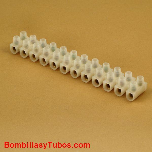 Regleta de conexión 16mm2 tira de 12 unidades