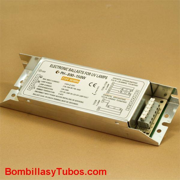 Balasto alta potencia PH2-800 mA 1x95w-150w 2x35w-75w