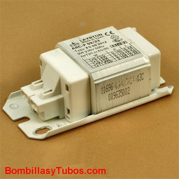 REACTANCIA Pl-S-Dulux-S  5-7-9-11w 230v ELECTROMAGNETICA - REACTANCIA ELECTROMAGNETICA para lamparas  PL-S 2 pines o Dulux S de  5-7-9-11w