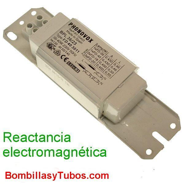 REACTANCIA 36w-40W ELECTROMAGNETICA - REACTANCIA ELECTROMAGNETICA 36w-40W  230V 36w-40W