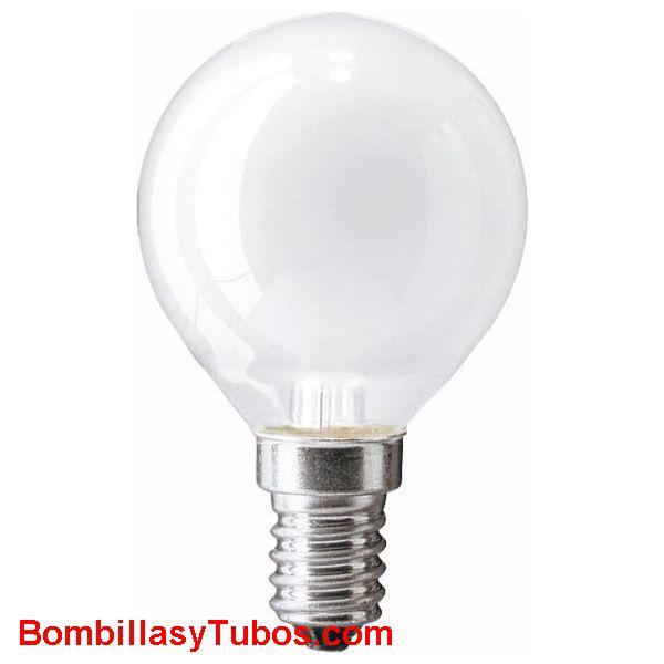 Bombilla ESFERICA MATE E14 230v 25W - Lampara incandescente ESFERICA MATE E14 230v 25w