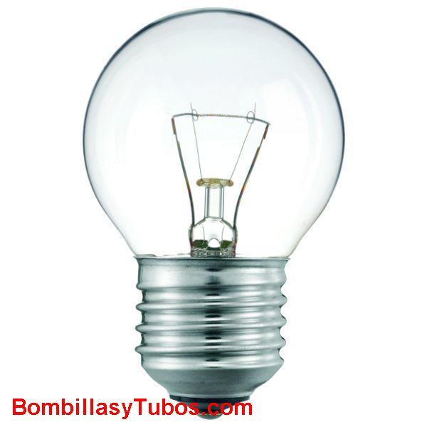 Bombilla ESFERICA CLARA E27 230v 60w - Lampara incandescente ESFERICA CLARA E27 230v 60w