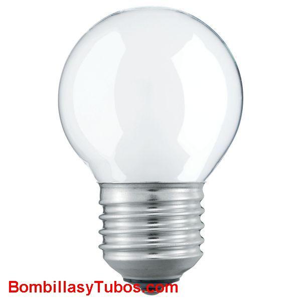 Bombilla ESFERICA MATE E27 230v 40w - Lampara incandescente ESFERICA MATE E27 230v 40w  Descatalogada-Consultar stock