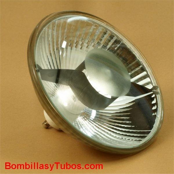 Bombilla halogena R111 GU10 230v 75w 24° - Lampara R111 de tension de red 230v 75w casquillo GU10 y 24° de haz luminoso . Filamento halogeno