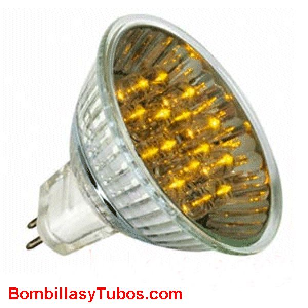LED HALO 12v 1w AMARILLA - LED HALO 12v 1w AMARILLA  base gu5.3  12v