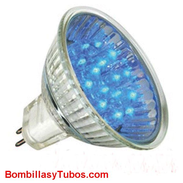 LED HALO 12v 1w AZUL - LED HALO 12v 1w AZUL  base gu5.3  12v