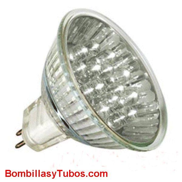 LED HALO 12v 1w BLANCA calida - LED HALO 12v 1w blanca  base gu5.3  12v