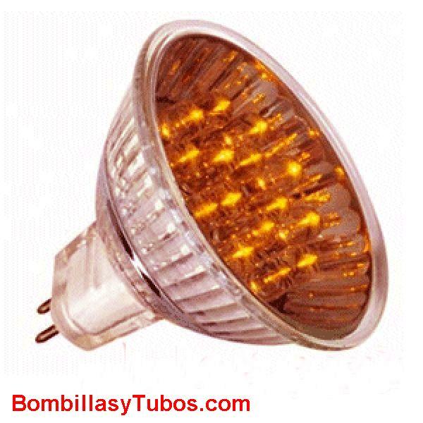 LED HALO 12v 1w NARANJA - LED HALO 12v 1w NARANJA  base gu5.3  12v  duración mas de 20000 horas  minima emisión de calor