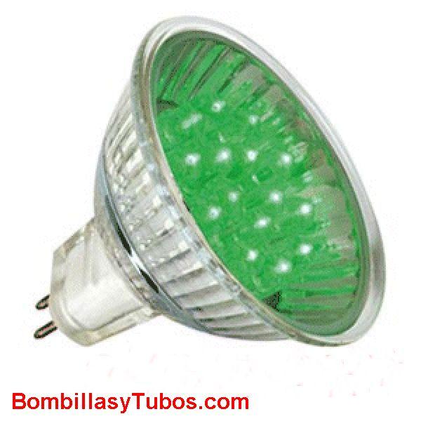 LED HALO 12v 1w VERDE - LED HALO 12v 1w VERDE  base gu5.3  12v