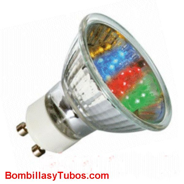 LED GU10 1w MULTICOLOR - LAMPARA LED P16 GU10 230v 1w MULTICOLOR  RGB