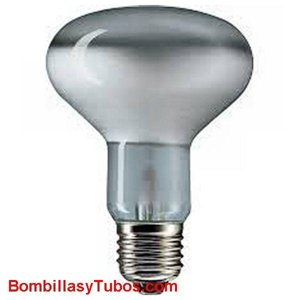 Bombilla R80 e27 230v 40w - Lampara incandescente reflectora 80mm e27 230v 40w