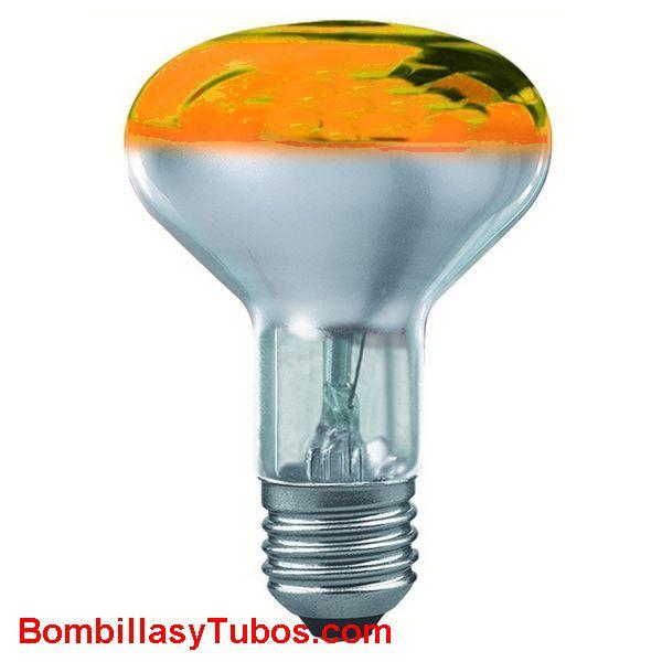 Bombilla R80 e27 230v 60w naranja