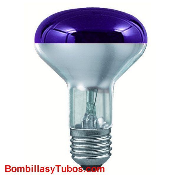 Bombilla R80 e27 230v 60w violeta
