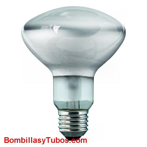 Bombilla R90 e27 230v  40w - Lampara incandescente reflectora 90mm e27 230v 40w