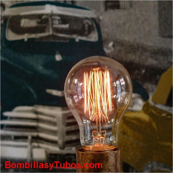 Bombilla filamento carbon ESTANDAR MALLA 230v 40w - ESTANDAR RUSTICA FILAMENTO MALLA 40W  imitando bombillas antiguas de carbon
