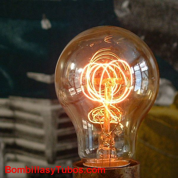 Bombilla filamento carbon ESPIRAL 230v 60W