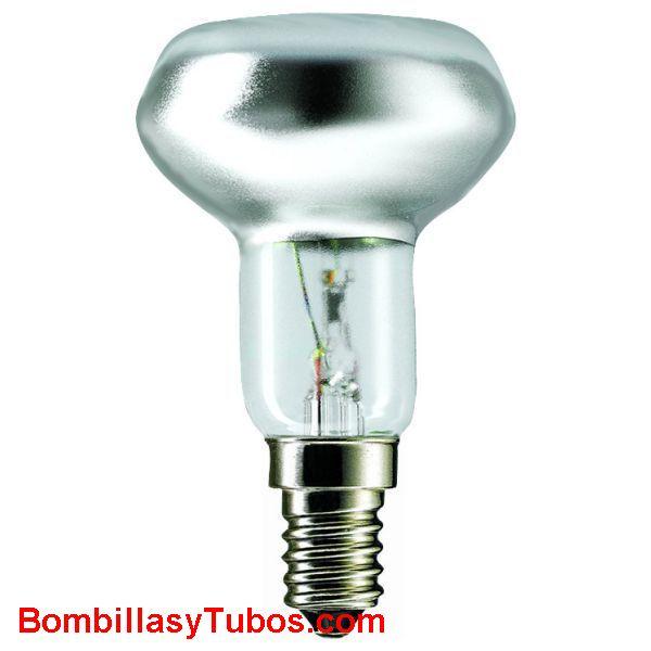 Bombilla S50 e14 230v 25w - lampara incandescente reflectora spot 50mm e14 230v 25w