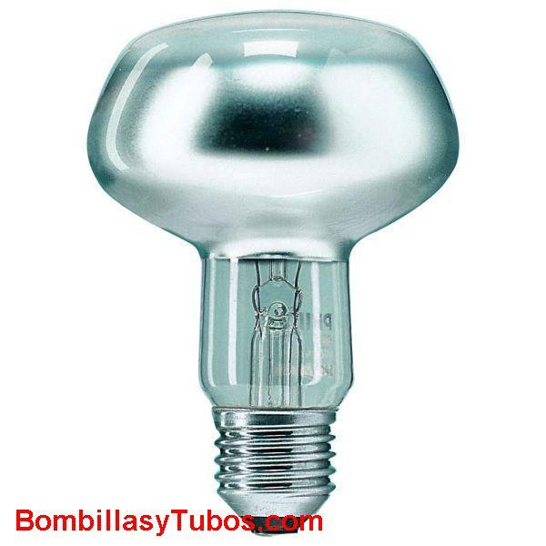 Bombilla S80 e27 230v 60w - Lampara incandescente reflectora spot 80mm e27 230v 60w