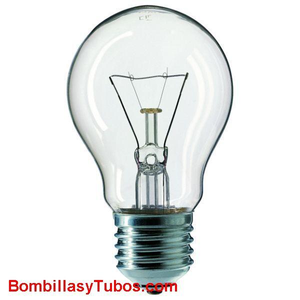 Bombilla incandescente ESTANDAR CLARA E27 230v 100w