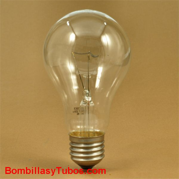 Bombilla incandescente ESTANDAR CLARA E27 230v 150w
