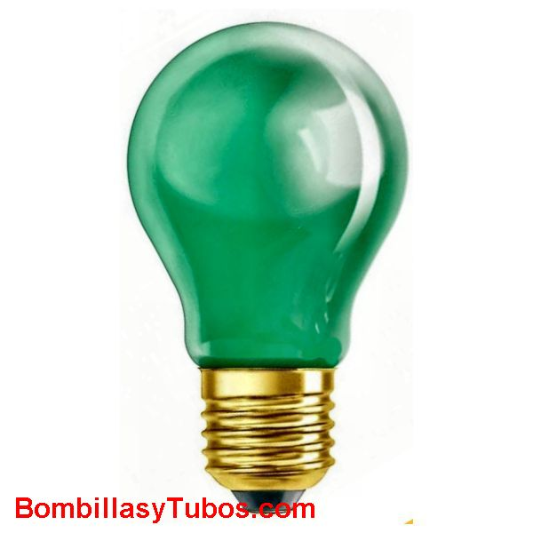 Bombilla ESTANDAR VERDE 230v 25w - Lampara incandescente ESTANDAR VERDE 230v 25w  base: e27-edison-27mm  vida media: 1000 horas