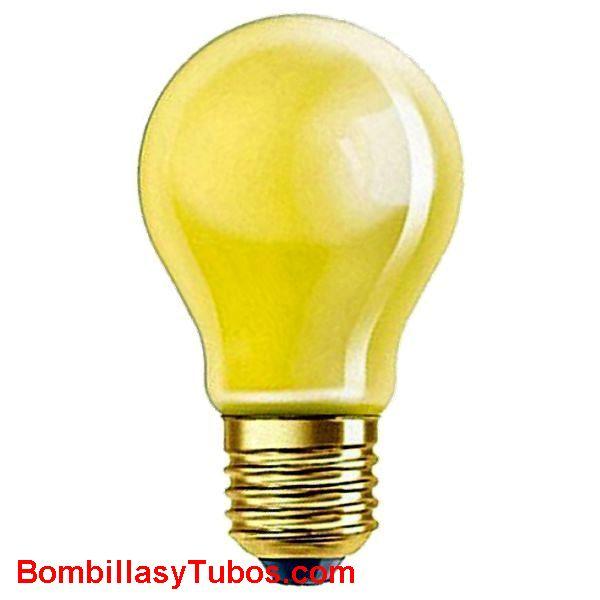 Bombilla ESTANDAR ANTIINSECTOS 230v 60w - Lampara incandescente ESTANDARD ANTIINSECTOS 230v 60w