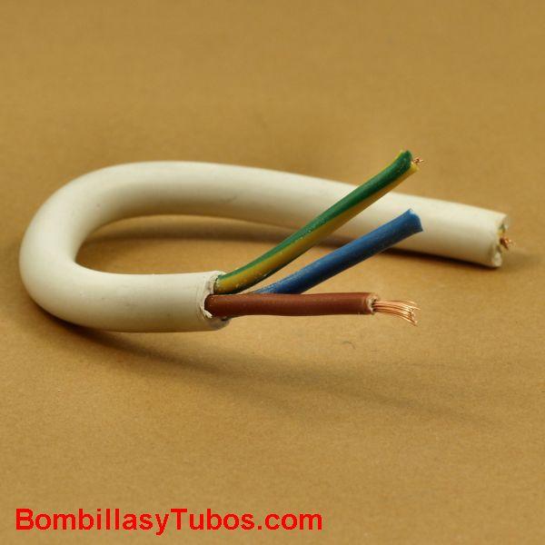 Cable manguera de 3x1,5 color blanco