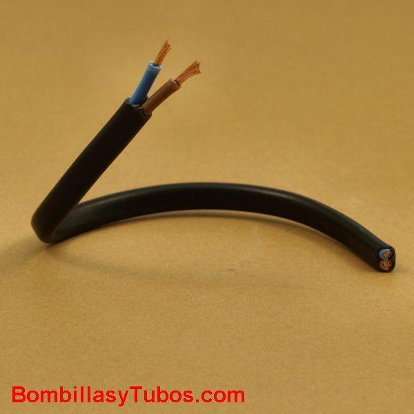 Cable manguera plana 2x0,7mm  negra