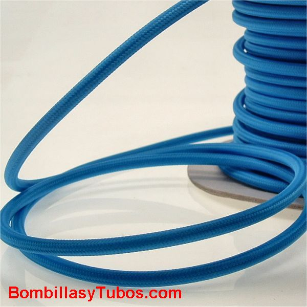 Cable forrado tela 2x1mm Azul