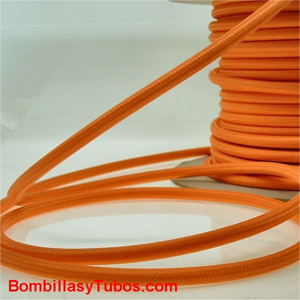 Cable forrado tela 2x1mm Naranja