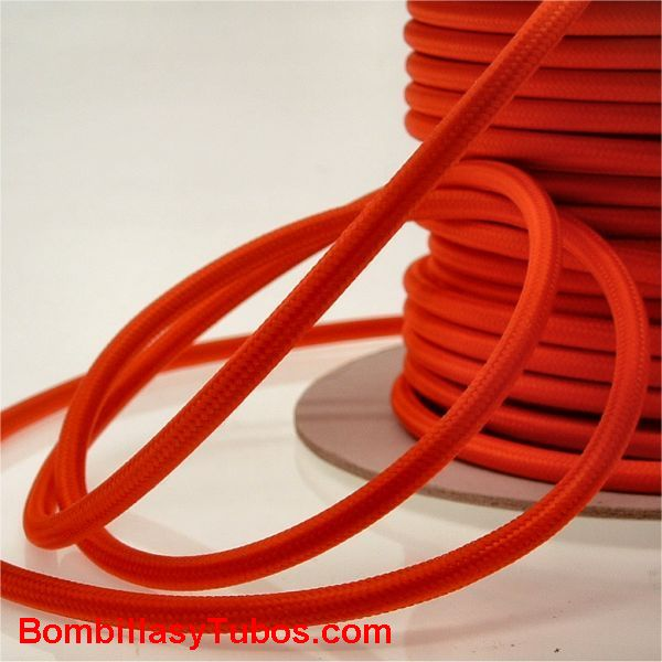 Cable forrado tela 2x1mm rojo