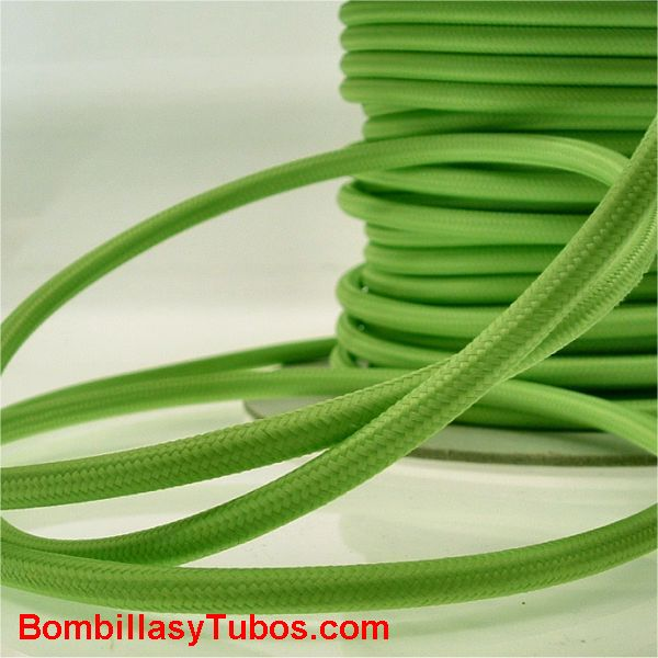 Cable forrado tela 2x1mm verde