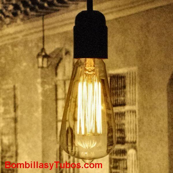 Rustica pebeton 40w clara - Bombilla de filamento decorativo imitando a las bombillas antiguas