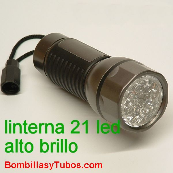 Linterna 21 LED Alto Brillo